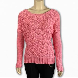 Pink Long Sleeve Knitted Sweater by AEO